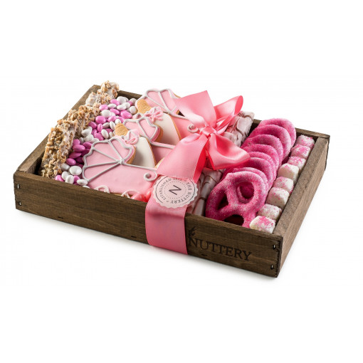 Baby Girl Wooden Gift Tray -Small Size