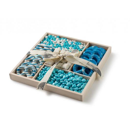 Baby Boy Blue Wooden 5 Section
