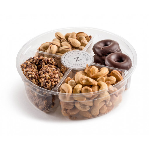 Plastic 4 section -Chocolate and Nuts Gift Tray