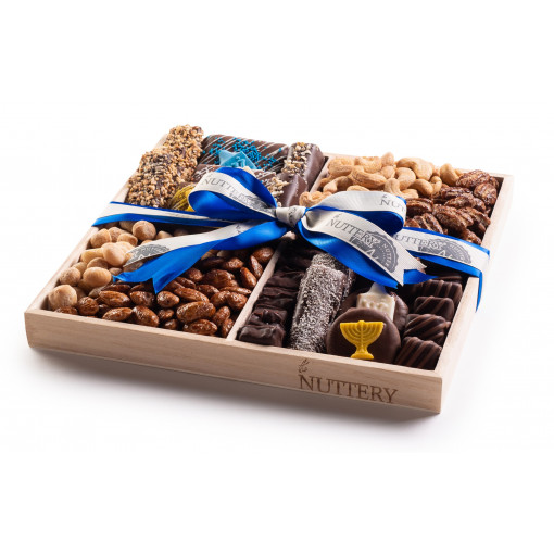 Nuttery Chocolate & Nuts Classic 4 Section Chanukah Gift Tray