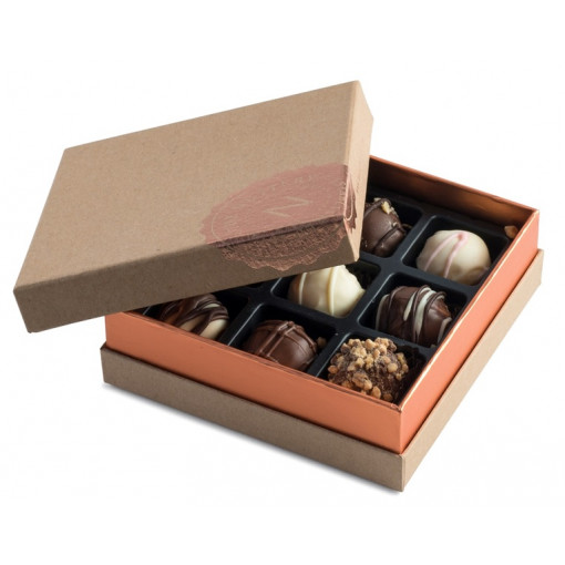 The Nuttery- Signature Chocolate Truffle Box, 9 pieces