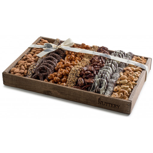 Nuttery Signature Tray - Chocolate Pretzel & Nuts - Medium size tray