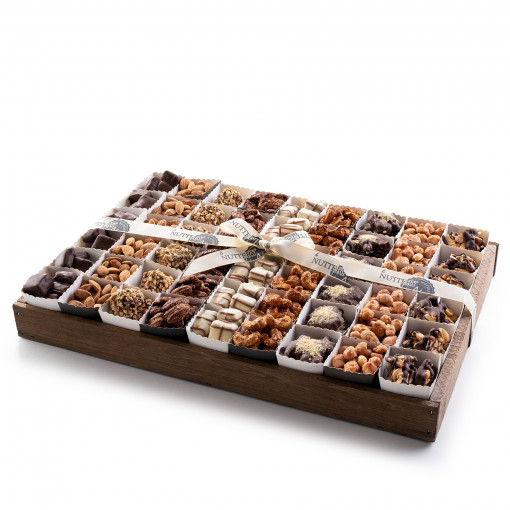 Gourmet Chocolate & Nut Gift Tray with Individual Party Cups- Large Size Tray