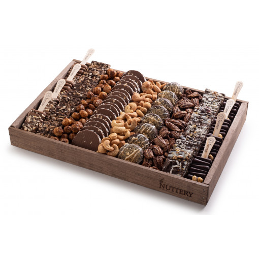 Nuttery Signature Tray - Gourmet Specialy Chocolate Pops and Log- Medium Size Tray