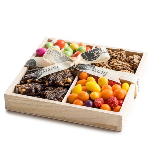 Nuttery Signature Tray- Classic 4 Section Chocolate and Candy