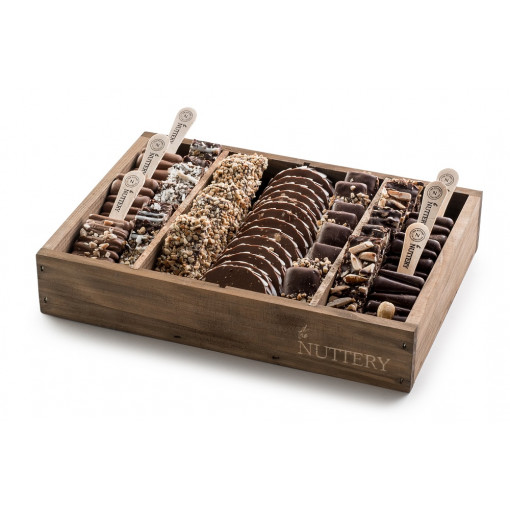 Nuttery Signature Tray - Chocolate Log, Pops and Bark - small size tray