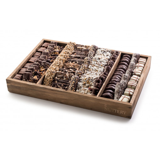 Nuttery Signature Tray - Gourmet Specialty Chocolate - Medium Size Mega Tray