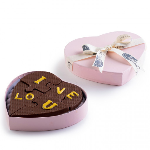 Valentine's Day Chocolate I Love You Puzzle Gift Box