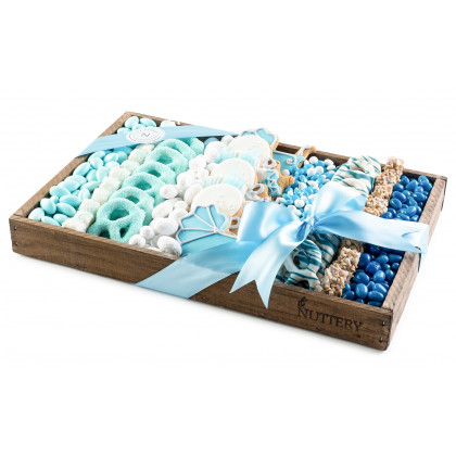 Blue Chocolate and Candy Tray, Gift For Baby Boy