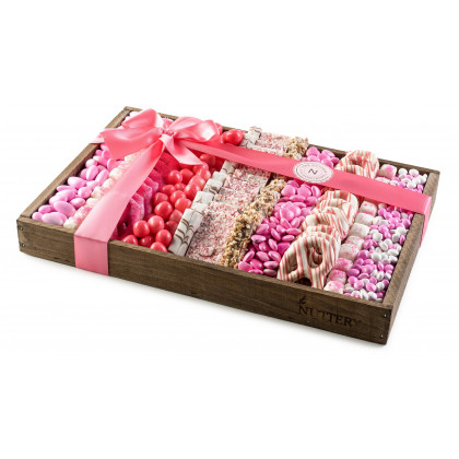 Gift For Baby Girl, Pink Chocolate and Candy Tray- Large Size
