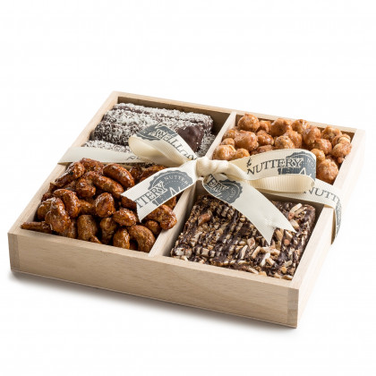 Nuttery Signature Tray- Classic 4 Section Nuts and Chocolate