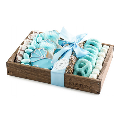 Baby Boy Wooden Gift Tray