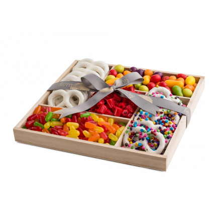 Wooden 5 Section Square- Candy