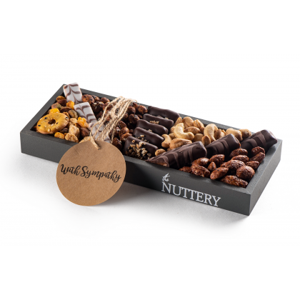 The Nuttery Chocolate and Nuts Sympathy Gift-Small Size Tray