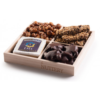 Nuttery Custom Corporate Classic 4 Section Gift Tray