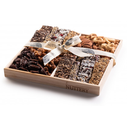 Nuttery Classic 4 Section Specialty Chocolate & Nut Gift Tray