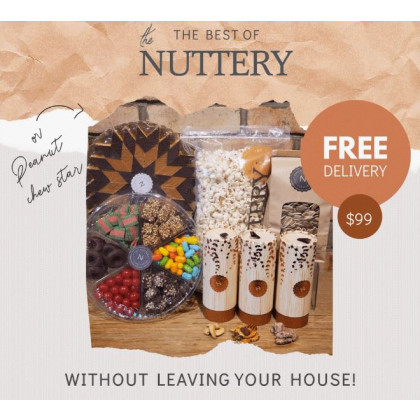 The Nuttery Mega Care Package-Peanut Chew Star, Chocolates, Candies-FREE SHIPPING