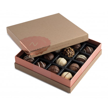 Nuttery- Signature Chocolate Truffle Box, 16 pieces