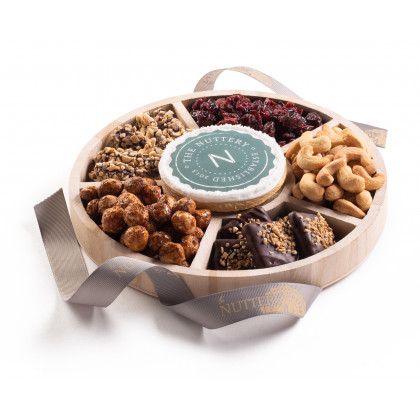 Nuttery Custom Corporate Classic 6 Section Round Gift Tray- Small