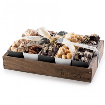 Gourmet Chocolate & Nut Gift Tray with Individual Party Cups- Small Size Tray