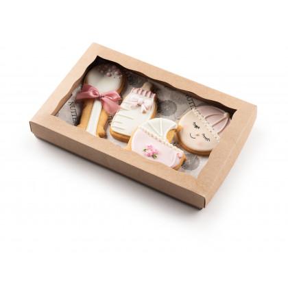 Nuttery Baby Girl Cookies Set of 4