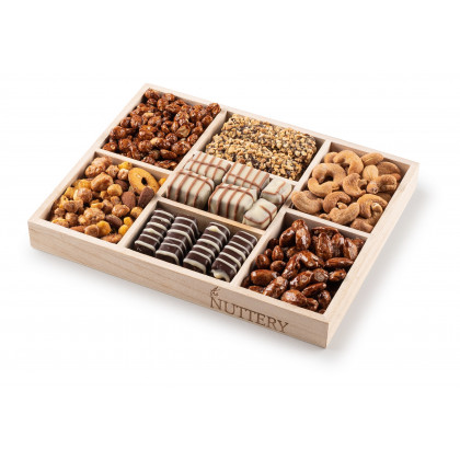 Nuttery Classic 7 Sectional Chocolate and Nut Small Gift Tray
