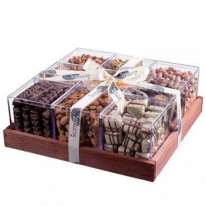 The Nuttery Mega Chocolate and Nut Gift Tray in Individual Boxes