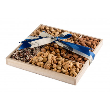 The Nuttery Father's Day Wooden 5 Section Nut Gift Tray
