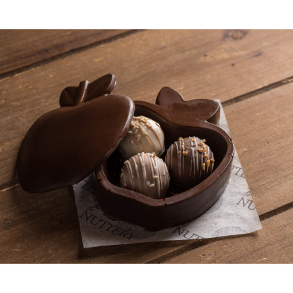 Nuttery Premium Edible Chocolate Apple Box With Assorted Truffle Chocolates