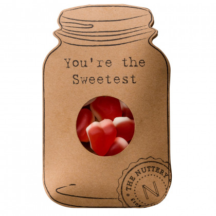 Gummy Heart Filled Novelty Card - You're the Sweetest