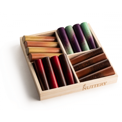 The Nuttery NEW Assorted Colors Mini Chocolate Logs