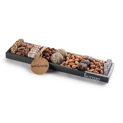 The Nuttery Chocolate and Nuts Sympathy Gift-Large Size Tray