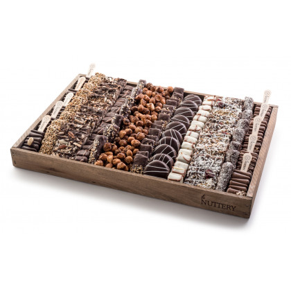 Nuttery Signature Tray - Specialty Chocolate and Nuts- Large Size Gift Tray