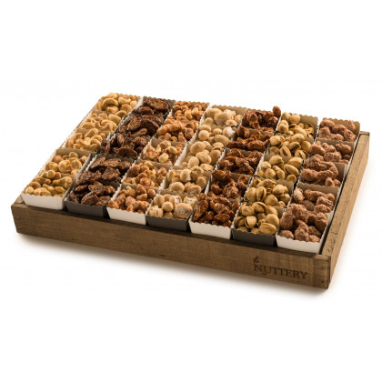 Gourmet Nut Gift Tray with Individual Party Cups- Medium Size Tray