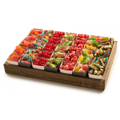 Candy Git Tray with Individual Party Cups- Medium Size Tray (35 Cups)-