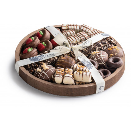 Nuttery Shana Tovah Specialty Chocolate Round Gift Tray
