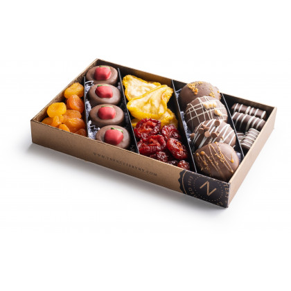 Nuttery Rosh Hashanah Classic 5 Section Gift Box