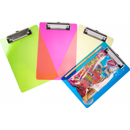 Purim Kids Candy Filled Colored Clipboards