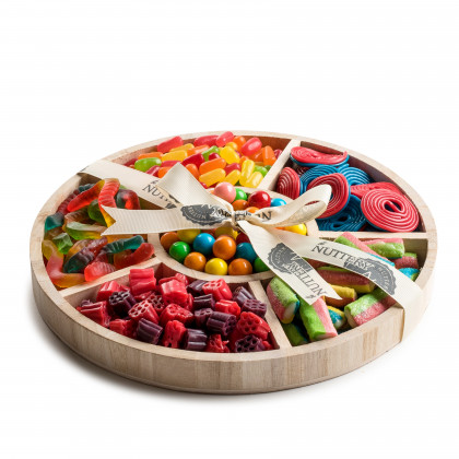 Nuttery Wooden 6 Section Candy Gift Tray-Large