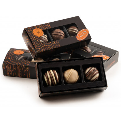 The Nuttery Classic 3 Pc. Truffle Box