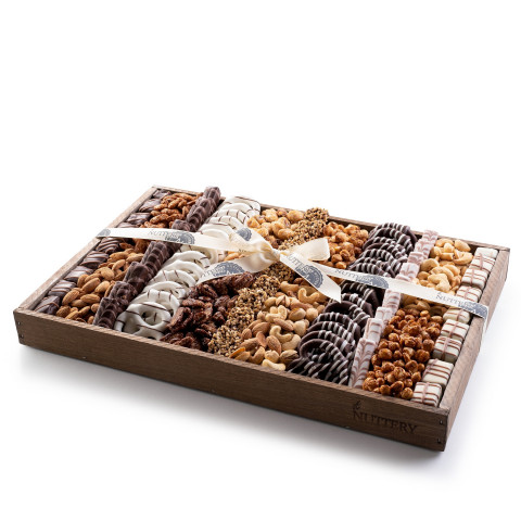 Nuttery Signature Tray - Chocolate Pretzel & Nuts - Large size tray
