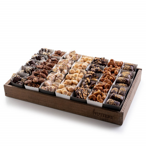 Gourmet Chocolate & Nut Gift Tray with Individual Party Cups- Medium Size Tray